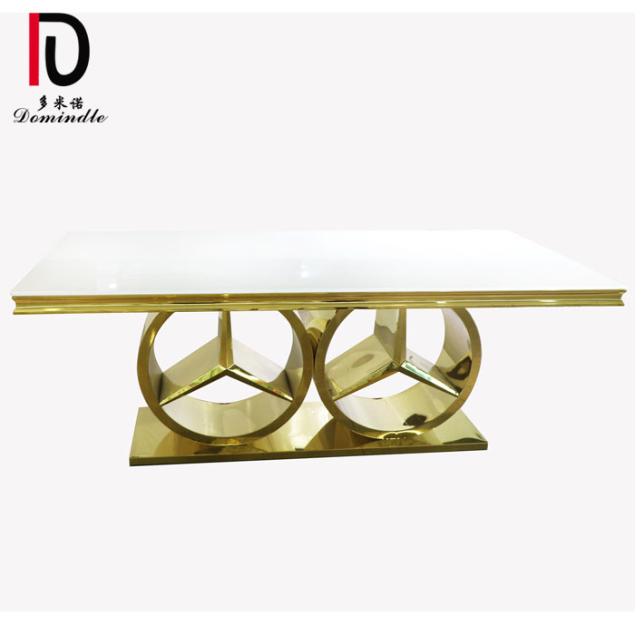 Lowest Price for Wedding Cake Table - Golden design stainless steel banquet table  – Dominate
