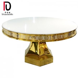 Original Factory Round Banquet Table - Golden design stainless steel banquet table  – Dominate