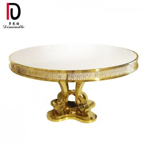 Factory wholesale Gold Stainless Steel Wedding Table - Wedding round table stanless steel – Dominate