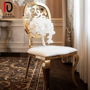Gold stainless steel Odette dining chair