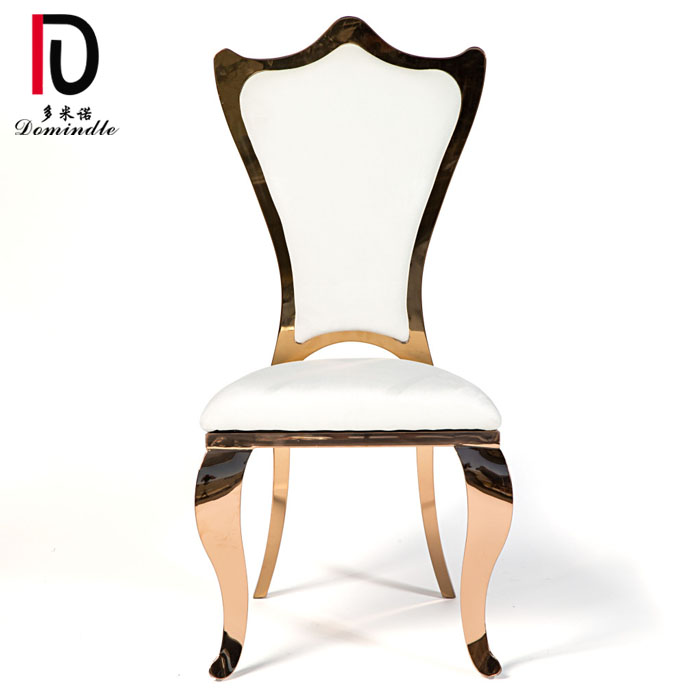 2019 High quality High Back Hotel Chair - Florence wedding gold stainless steel chair – Dominate