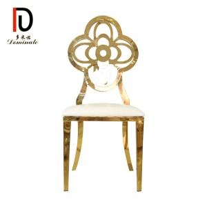 Factory directly supply Cheap Sale Wholesale Price Banquet Chair - Cherry gold wedding dining chair for events – Dominate