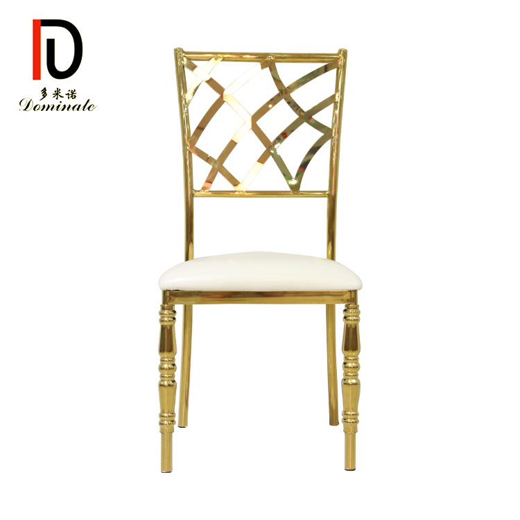 PriceList for Metal Gold Hotel Chair - Banquet Net dining event chair – Dominate