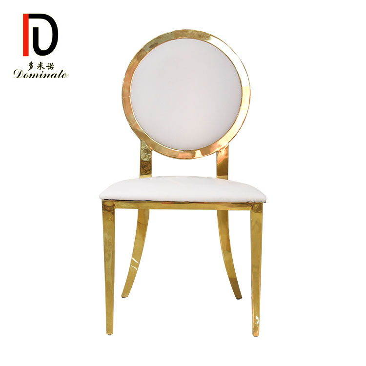 Discount Price Elegant New Design Metal Event Chair - Moon wedding gold dining chair – Dominate Featured Image