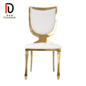 Wholesale Discount Stacking Banquet Chair - Stainless steel shield dining banquet chair – Dominate