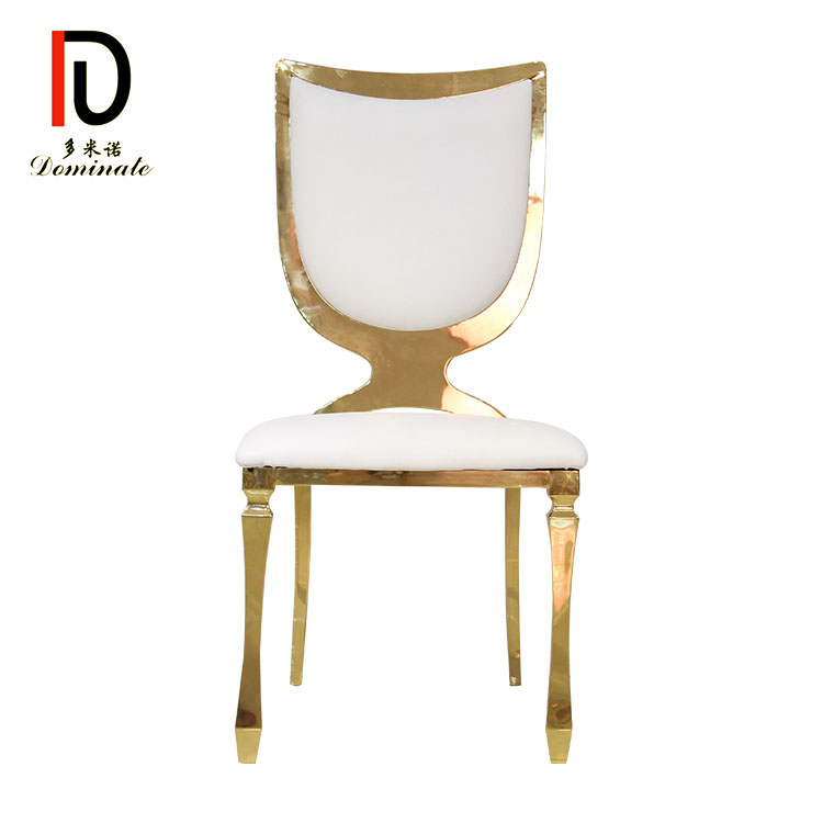 Wholesale Wedding Stainless Steel Chair - Stainless steel shield dining banquet chair – Dominate Featured Image