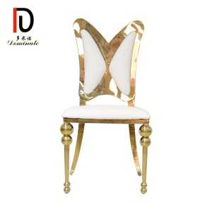 Butterfly stainless steel dining chair