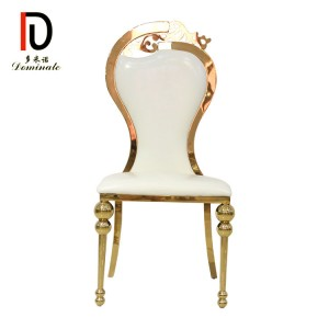 4. Swan stainless steel wedding dining chair