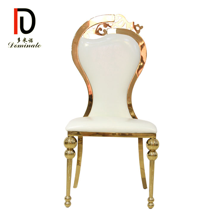 2019 Good Quality Rental Hotel Chair - 4. Swan stainless steel wedding dining chair – Dominate