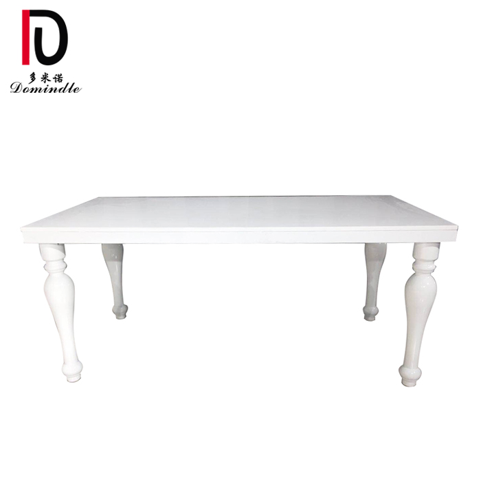 China Factory for Gold Stainless Steel Table - Modern white wedding table – Dominate
