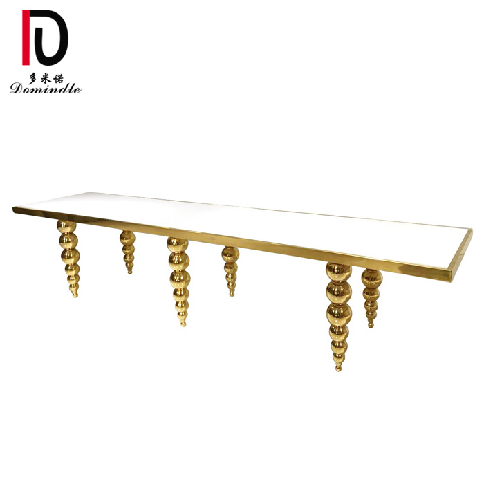 factory Outlets for Tiffany Event Table - Unique stainless steel golden wedding table – Dominate