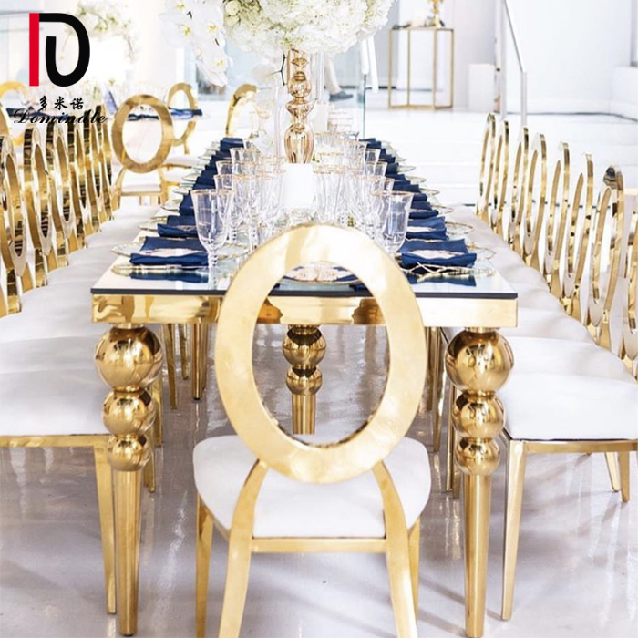 Rapid Delivery for Glass Event Table - Stainless steel gold wedding table – Dominate Featured Image