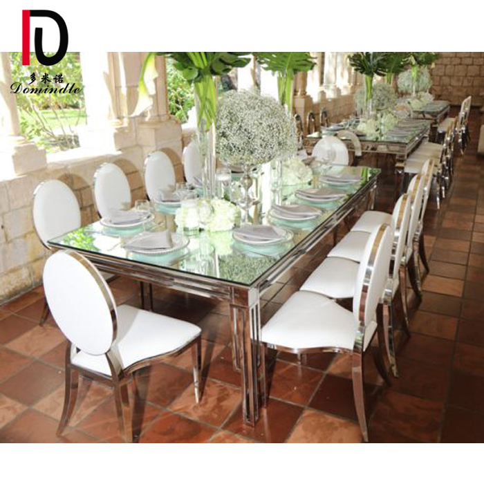 High Performance Stainless Steel Event Table - luxury design stianless steel wedding table – Dominate