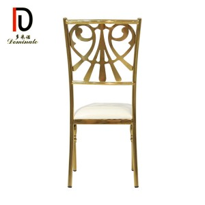 Good quality Gold Wedding Folding Chair - Spider dining gold stainless steel wedding chair – Dominate