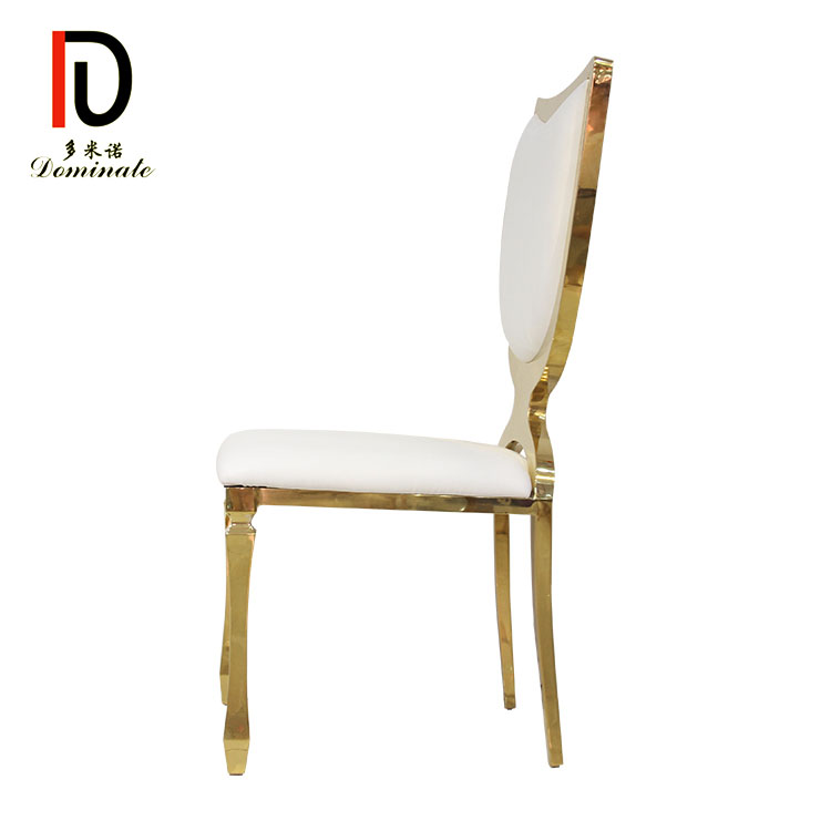 Wholesale Wedding Stainless Steel Chair - Stainless steel shield dining banquet chair – Dominate detail pictures