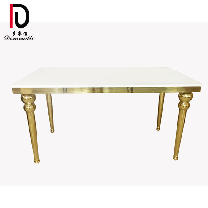 Factory Outlets Modern Stainless Steel Table - Gold stainless steel legs wedding table – Dominate