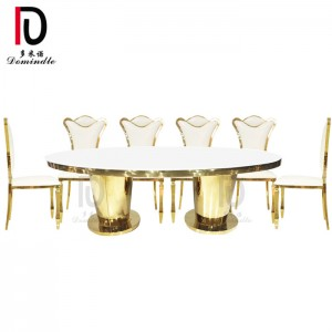 Good Wholesale Vendors Sweet Cake Table - Oval stainless steel wedding table – Dominate