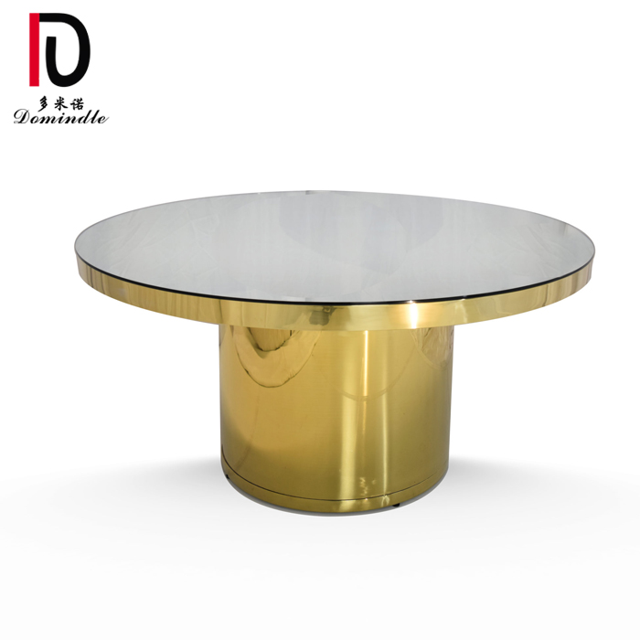 Bottom price High Back Gold Hotel Table - Modern wedding furniture round dining table – Dominate