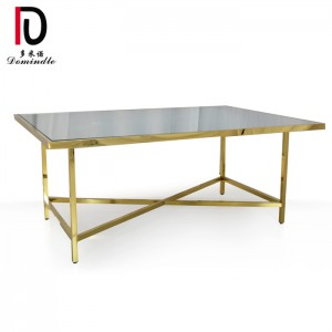 Top Quality Round Metal Stainless Steel Table - Rectangular dining stianless steel wedding table – Dominate