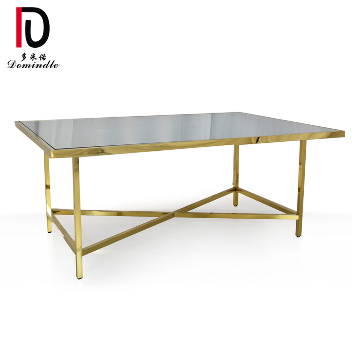 PriceList for Dining Table - Rectangular dining stianless steel wedding table – Dominate