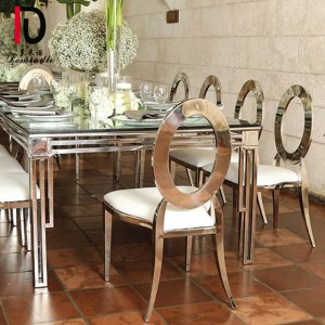 Factory making High Quality Banquet Table - luxury design stianless steel wedding table – Dominate