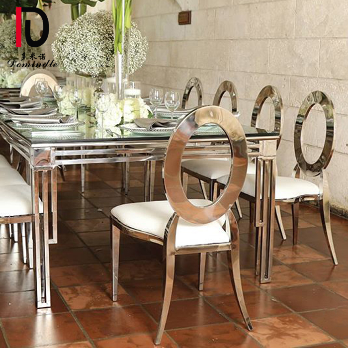 Wholesale Dealers of Modern Cake Table - luxury design stianless steel wedding table – Dominate