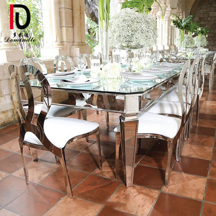 One of Hottest for Stainless Steel Table - Event design stianless steel wedding table – Dominate