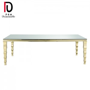 Hot Selling for Mdf Stainless Steel Table - Unique stainless steel golden wedding table – Dominate
