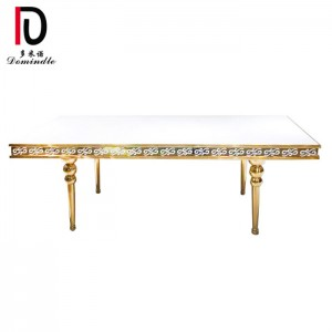 Hot sale Mdf Hotel Table - New design stainless steel frame wedding table – Dominate