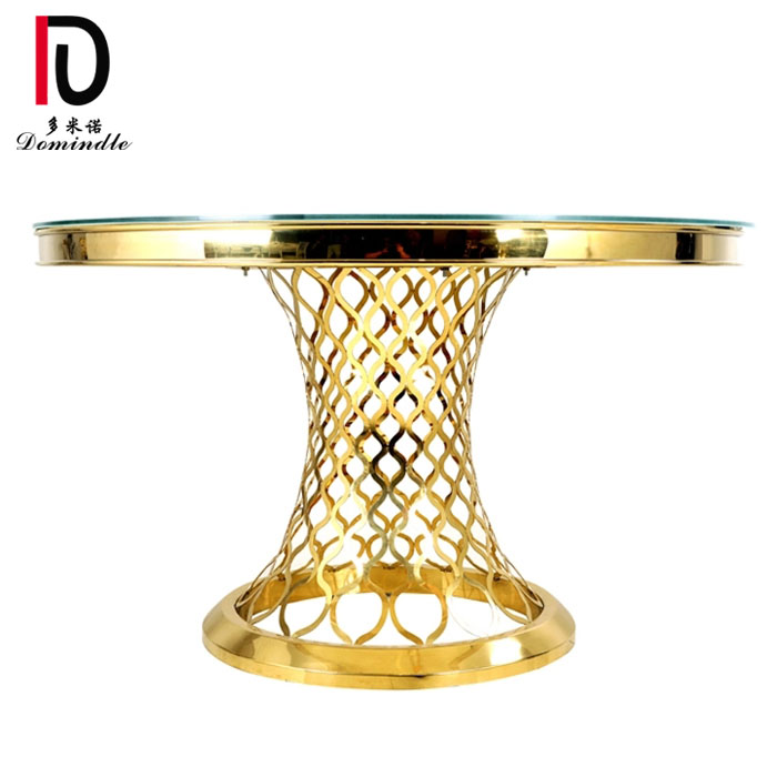 Good Wholesale Vendors Sweet Cake Table - Glass table gold wedding design   – Dominate Featured Image