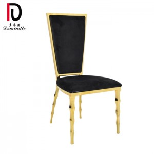 Fixed Competitive Price Stackable Gold Stainless Steel Chair - Elegance modern wedding dining chair – Dominate