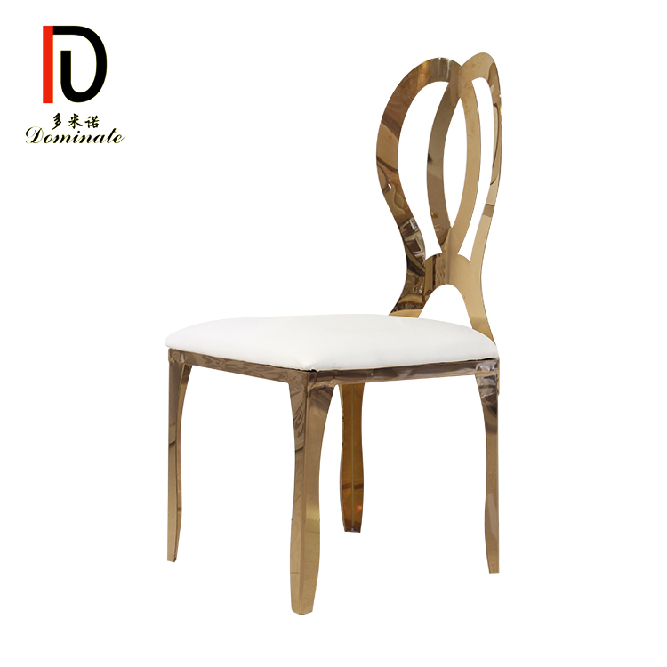 China Gold Supplier for Gold Stainless Steel Event Chair - 3. popular infinity dining wedding chair – Dominate detail pictures