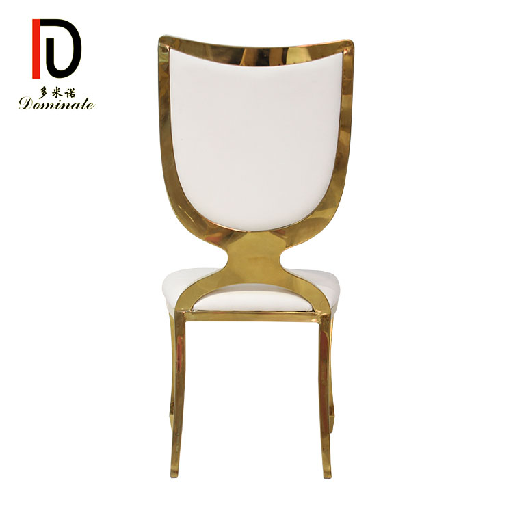Wholesale Wedding Stainless Steel Chair - Stainless steel shield dining banquet chair – Dominate