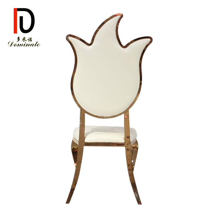 Chinese Professional Elegant Wedding Chair - Lotus stainless steel dining chair – Dominate