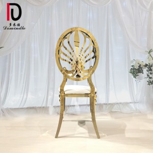 factory low price Metal Banquet Chair - Dubai gold dining chair for banquet – Dominate