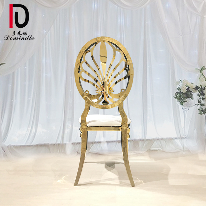 Best quality Modern Golden Stainless Steel Hotel Chair - Dubai gold dining chair for banquet – Dominate