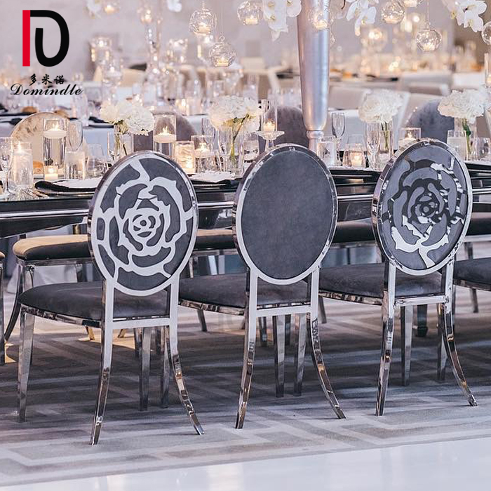 Dominate elegant gold frame stainless steel round back wedding and event chair