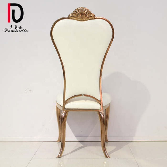 Elegant Banquet Stainless Steel Metal Bride and Groom Reception used Wedding Chairs