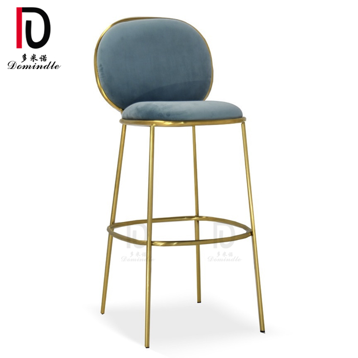 2020 modern design gold stainless steel wedding bar chair for cocktail