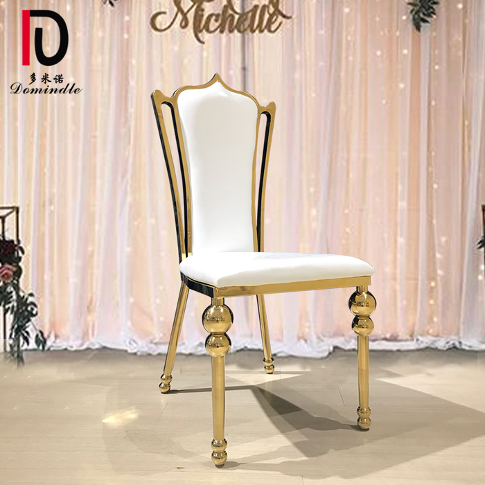 dominate wc16 modern gold stainless steel frame wedding chair for event