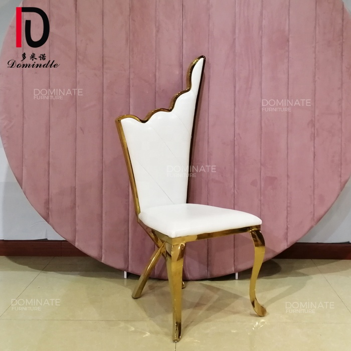 White elegance furniture high back wedding use classical king throne chair