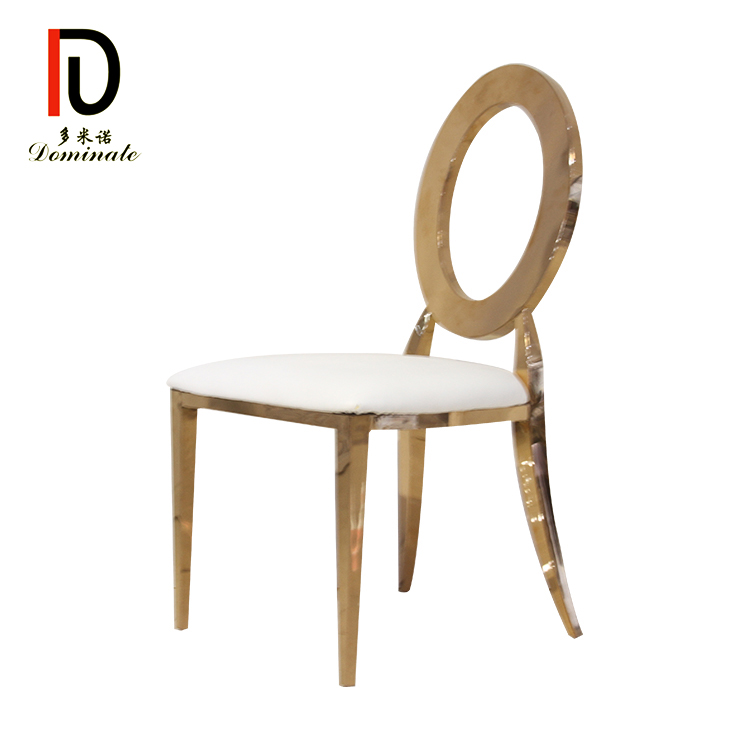 Wholesale Stacking Hotel Restaurant Dining Silver Gold  Wedding Rental Infiniti Stainless Steel Party Chair for Event