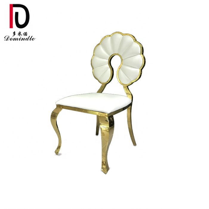 2019 event style gold stainless steel frame dining chair for wedding