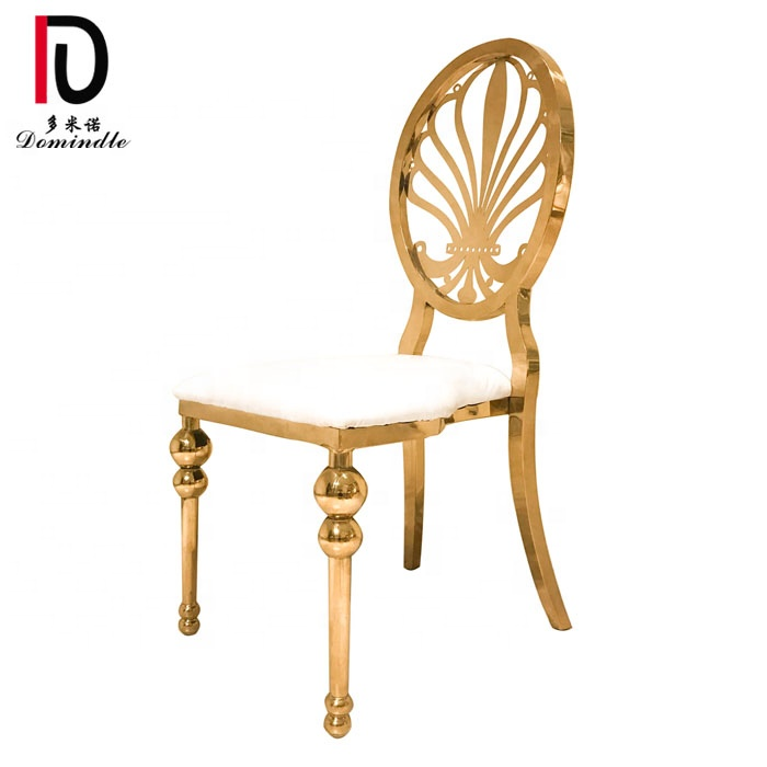 event rental gold stainless steel gold wedding dining chair for sale