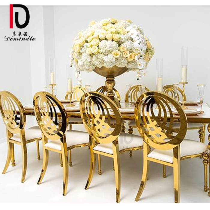 new inventory royal event banquet used stainless steel gold wedding dining chair