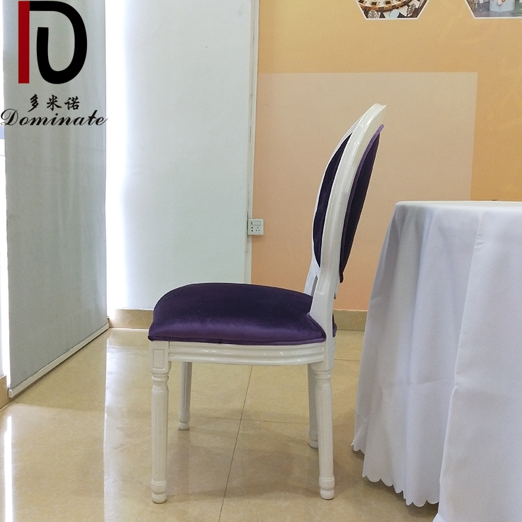 Wholesale Cheap Price Commercial Oval Back Aluminium Frame White Events Chair Louis Dining Chair For Wedding Banquet