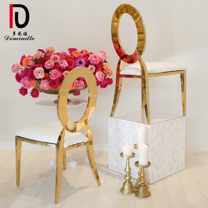 High Quality Wedding Furniture Stainless Steel Dining Banquet Chair