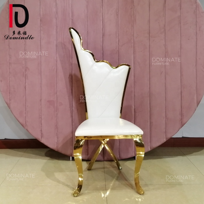 High king throne design back wedding dining reception chair for bride and groom