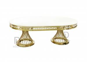 Oval Shape Stainless Steel Table