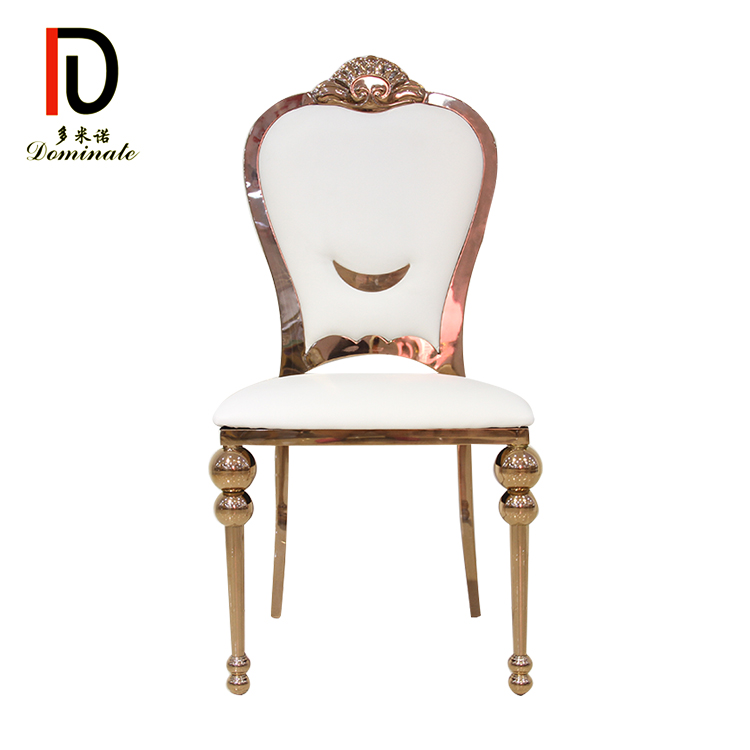 8 Year Exporter Gold Wedding Dining Chair - King modern dining wedding chair – Dominate